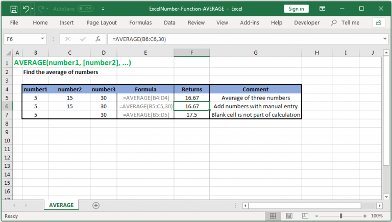Use AVERAGEIFS Function in Excel - ExcelNumber