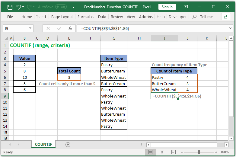Count reference cells based on criteria in Excel