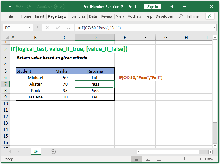 Return value based on given criteria in Excel