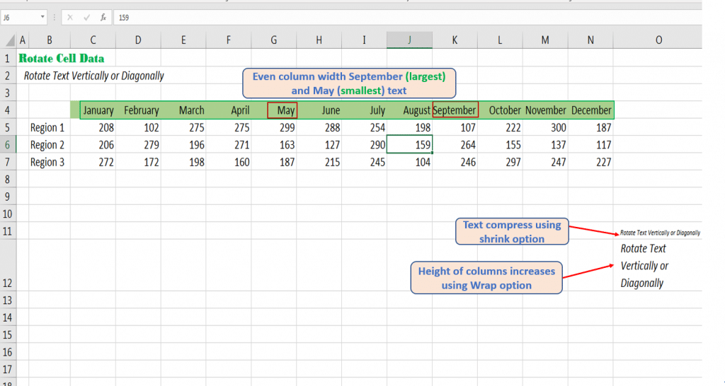 Manage column width or height using different Excel tools