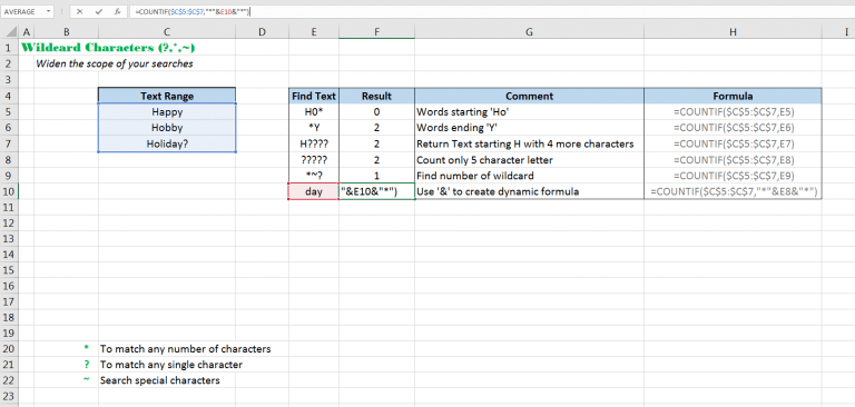 Return count of text that is alike as per given Wildcard criteria