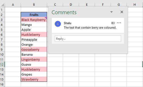 It will clear comment but content and formatting remain same.It will clear comment but leave content and formatting.