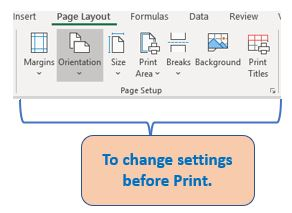 These are seven options to change print settings.